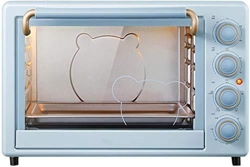 35L Mini horno eléctrico, con convección- Función de cocción múltiple Parrilla Ajustable Control de temperatura Temporizador 1600W Horno de convección de cocina