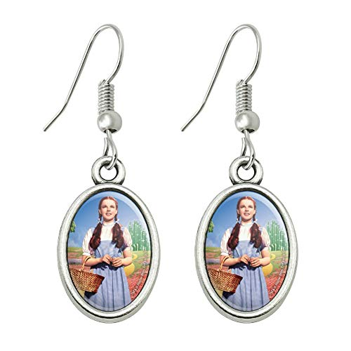 GRAPHICS & MORE Wizard of Oz Dorothy Character Novelty Dangling Drop Oval Charm Earrings