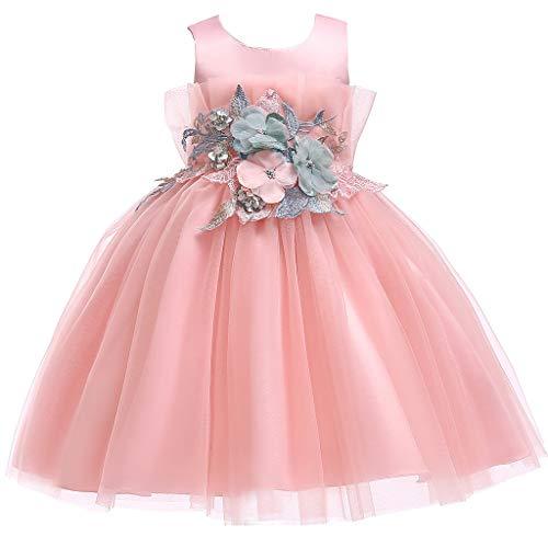 LuckyGirls Élégante Fille Robes Princesse Robes De Mariée Compleans Filles Enfants Robe De Baptême Casual Party Robe sans Manches