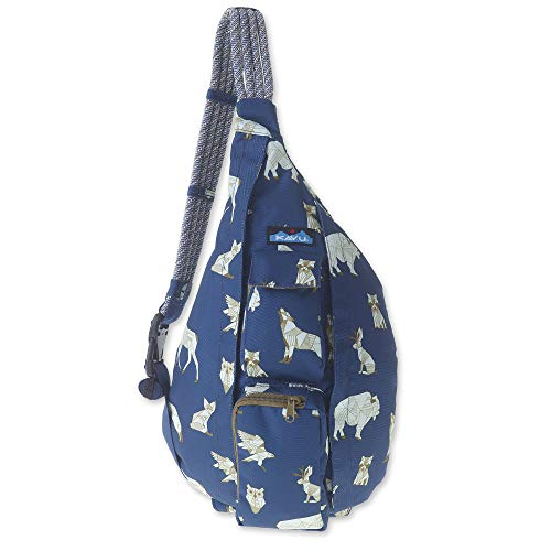 KAVU Original Rope Sling Bag Polyester Crossbody Backpack - Navy Range
