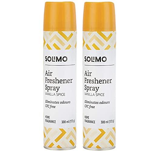 Amazon Brand - Solimo Home Air Freshener Spray, Vanilla Spice, 300ml (Pack of 2)