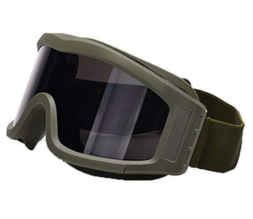 Daesar Brille Motorrad Herren Army Grün Brille Winddicht Radsport Sicherheitsbrille für Brillenträger