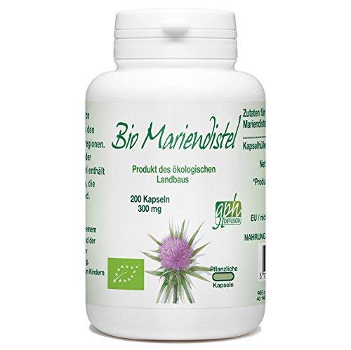 Bio Mariendistel - 300mg - 200 pflanzliche Kapseln
