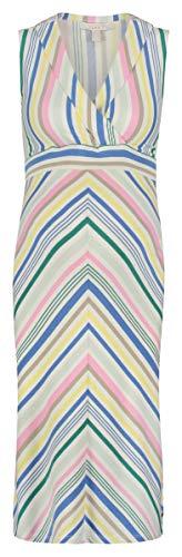 ESPRIT Maternity Damen Dress Sl AOP Kleid, Mehrfarbig (White 100), 44 (Herstellergröße: XX-Large)
