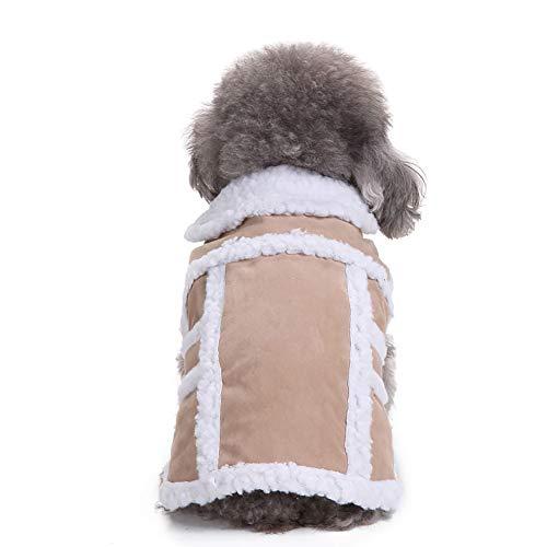 Gepolsterte Verdickung Nachahmung Hirsch Lederjacke Hundekostüme Pet Kleidung YunYoud Winter Hund Haustier Mantel Jacke Weste Hund Reflektierende Mantel warmes Outfit Kleidung