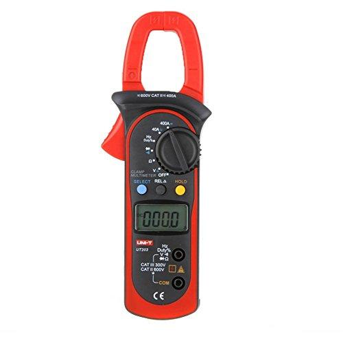 UNI-T UT203 Aktuelle Digitales Clamp Universalmessgerät Multimeter Handgehaltene Messzange Widerstands Frequenztester Voltmeter Stromkreisprüfer AC DC