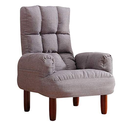 Adjustable Folding Lazy Sofa Deck Lounger Chair Reclining Chair Armchair Folding Sofa Couch Fabric Accent Chair Padded Leisure Chairs Side Chair Makeup Chair Gaming Chair Computer Chair