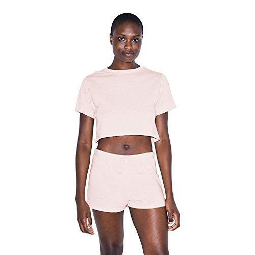 American Apparel Damen Blend Jersey Running Legere Shorts, Tri-Creole Rosa, Groß