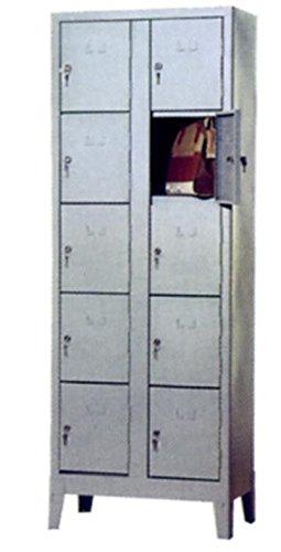COARME Armadio Metallo Acciaio portaborse 10 vani 69x50x180 cm