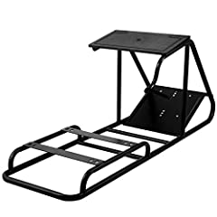 【HIGH STABILITY】- Made of carbon steel, black powder coating, provides a stable and durable racing wheel stand. Hard mounted wheel stand, will not move or fall off when you race. 【ADJUSTABLE】- This racing simulator cockpit allows the player to adjust...