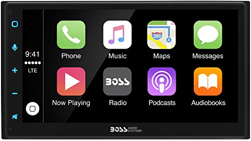 BOSS Audio Systems BVCP9675A Car Multimedia Player with Apple CarPlay - Double Din Car Stereo, 6.75...