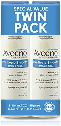 Aveeno Positively Smooth Moisturizing Shave Gel 7 Oz 1 Pack of two items product image