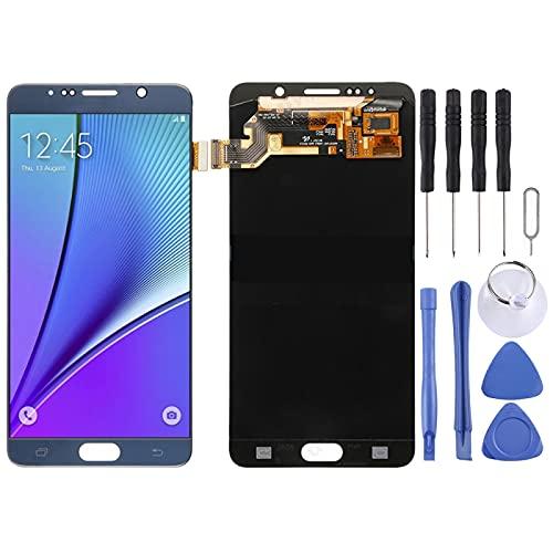 para Samsung Galaxy Note 5/N9200 Pantalla LCD Original Asamblea de digitalizador de Pantalla táctil,De Repuestos de Repuesto de HZZSTD (Color : Blue)