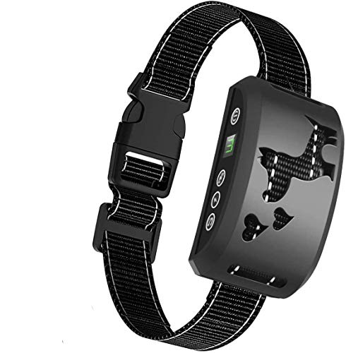 RIVENNA Bark Collar, Harmless Bark Collar for Any Size Dogs, Rechargeable Anti bark Collar, Beep Vibration and No Harm Shock Smart Detection Module