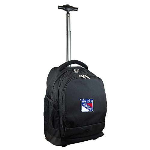 NHL New York Rangers Expedition Wheeled Backpack, 19-inches, Black