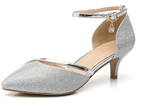 WUIWUIYU Femme Bout Fermé Escarpins Chaussures de...