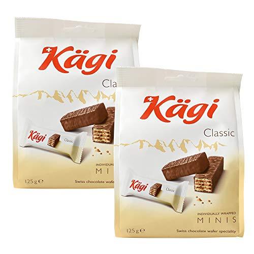 Kagi スイス ウエハースチョコレート 2袋セット カーギ ウェハースチョコ 個包装 (ミルク)