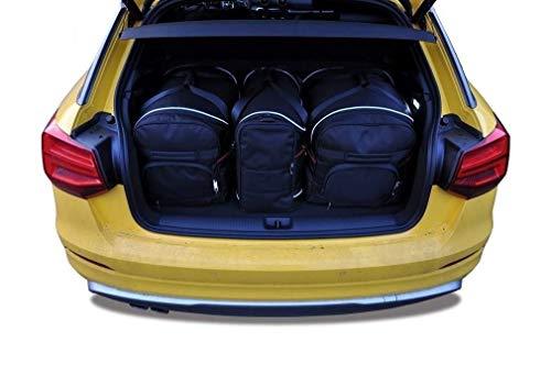 KJUST Dedizierte Kofferraumtaschen 3 STK Set kompatibel mit Audi Q2 I 2016 -