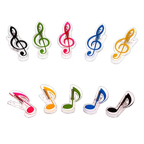 Artibetter 10 stücke Scharnier Clips Musik Hinweis Clip Dekorative Musik Clip Buch Seite Clip Musik Stationäre Buch Clip für Pianist Musik Liebhaber