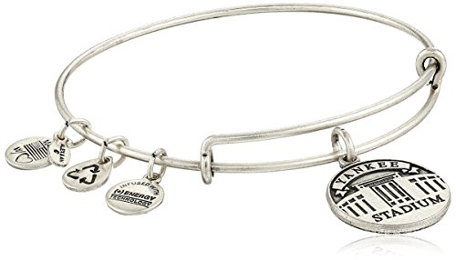 Alex and Ani Yankee Stadium Expandable Rafaelian Silver Bangle Bracelet