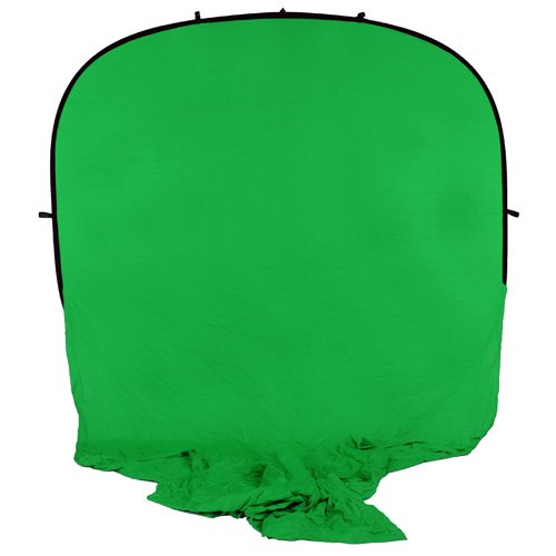 Fotodiox Collapsible Portable Backdrop Kit with 2.1m Stand, 8x14' Muslin Chromakey Green Background