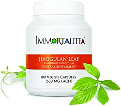Gynostemma Capsules - Jiaogulan Capsules - AMPK Activator & Adaptogen Supplement for Weight Loss & Blood Pressure | Reduce Belly Fat & Boost Energy | No Side Effects | Immortalitea 100 x 500mg