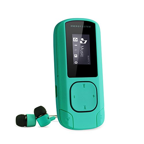 Energy Sistem Energy MP3 Clip Mint - Reproductor MP3 portátil, 8 GB, Clip, Radio FM y microSD, menta