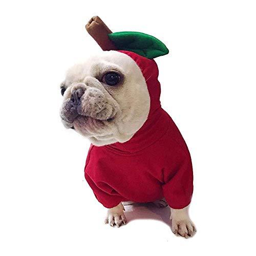 GH-YS Disfraz de Perro de Mascota de Halloween, Abrigo de Cosplay de Fruit Dogs, Sudadera con Capucha Linda, para Mascotas, Gatos, Mono de tamaño Mediano, Ropa de Chaqueta de Gato (Color