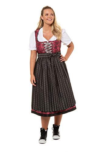 Ulla Popken Damen Clara Weinrot, Größen Dirndl, Rot (Rot 57), (Herstellergröße: 48)