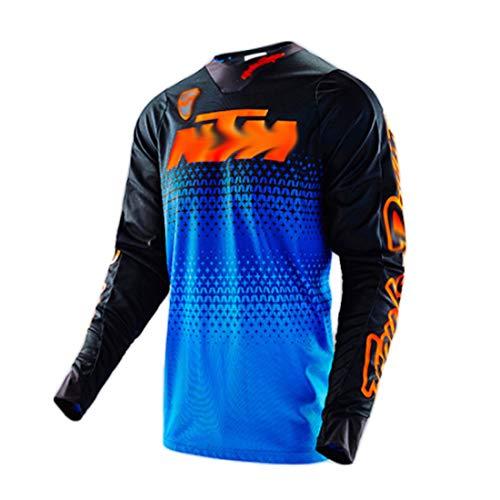 YSYFZ Maillot VTT Cyclisme en Plein air Sport vélo Costume Costume Chemise à Manches Longues Service Moto Hors Route T-Shirt à Manches Longues Costume de Descente vêtements de Sport Tout Terrain été