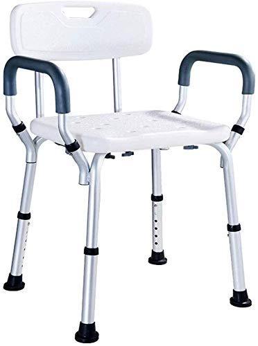 XUSHEN-HU Silla de Ducha Baño Silla de Ancianos Mujeres Embarazadas Baño Ducha Silla, Ancianos y discapacitados Ducha Taburete de baño Apoyabrazos Respaldo heces Baño