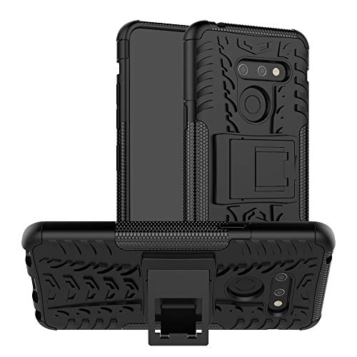 CaseExpert LG G8 ThinQ Funda, Heavy Duty Silicona híbrida con Soporte Cáscara de Cubierta Protectora de Doble Capa Funda Caso para LG G8 ThinQ