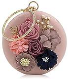 Tooba Women's Clutch (Pinkk Flower Round Pink)