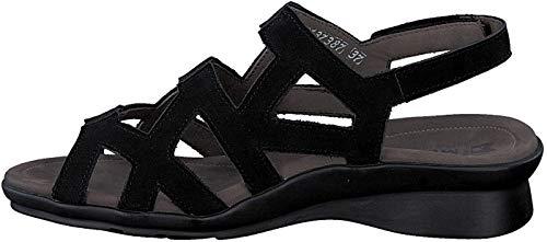 Mephisto Pamela Mujeres de Las Sandalias con Velcro Bucksoft 6900 Black tamaño : 42 EU