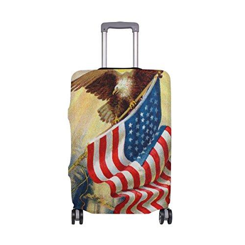 My Daily Eagle and American Flag - Funda para maleta de 18 a 32 pulgadas
