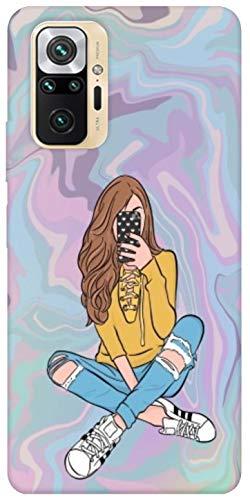 SharpEseller Girl Designer Multi Coloured Silicone Mobile Back Cover for MI Redmi...