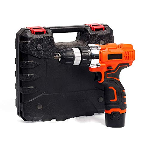 Beautiful happy Cordless Drill Driver, Electric Screwdriver Set, 12V Power Drill, Battery and Charger Included,2 Speed Gearbox, 2-Spee, 18+1 Keyless Clutch (Color : -, Size : -)