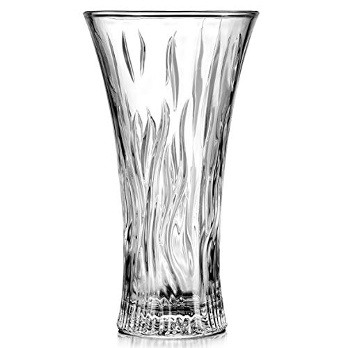 """JASVIC Vase 12"""" Flower Glass Vases, Tall Clear Transparent Crystal Vases for Decor,Lead-Free Dining Table Decoration"""