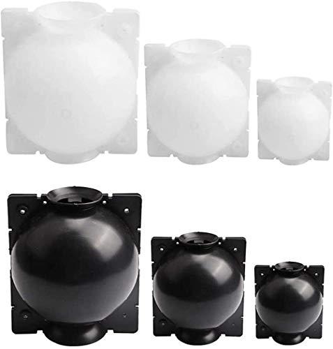ZESHIZE Wurzelball-unterstütztes Schneiden, Wurzelbox, Hochdruck-Anzuchtkugel, Veredelung, Pflanzengewächshaus, Wurzelgerät, wiederverwendbarer Hochdruckball für Veredelung (3 Stück (S, M, L), schwarz