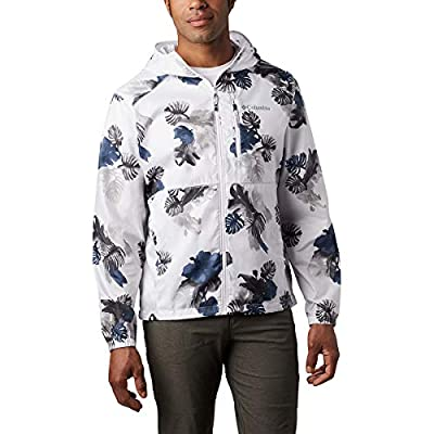 Columbia Men's Flash Forward Windbreaker Print, White Tropical N Monster As, XX-Large