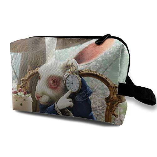 Alice au pays des merveilles Trousse de maquillage Trousse de maquillage Sac à main avec poignée étanche