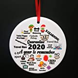 Christmas Ornaments 2020 Commemorative Plates Ornament Christmas Decorations Ceramics Xmas Tree Hanging Decor -A Year to Remember - One-Sided