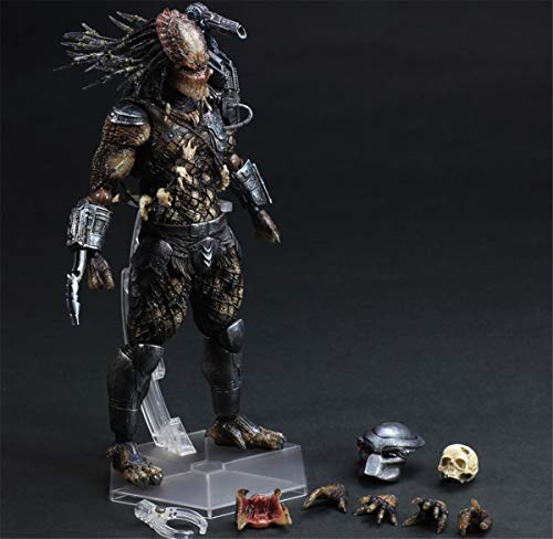 Fashion-zone Predator Action Figure Alien Fighters Model Toy Statue Collectible Set for Aliens Fans 11 Inches
