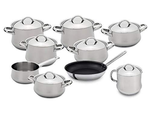 Silampos Batería de Cocina set de 9 piezas Acero Inoxidable - Induccion