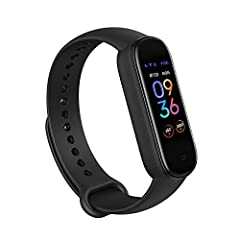 AMAZON ALEXA BUILT-IN: Talk to Amazon Alexa on your Amazfit Band 5. Ask questions, get translations, set alarms, and timers, create shopping lists, check the weather, control your smart home devices and more. BLOOD OXYGEN SATURATION MONITOR: With Ama...