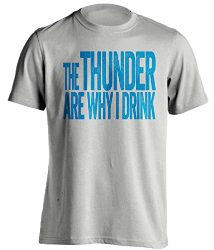The Thunder are Why I Drink – Divertida camiseta autoproclamada – Versión azul y naranja – Death Ray Prints