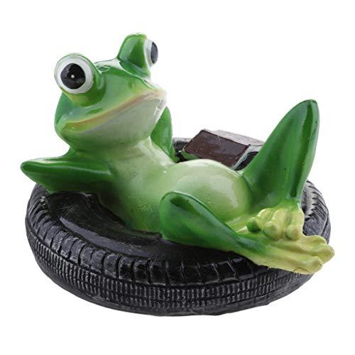 B Blesiya Süße Frosch Teichdekoration Schwimmform, ideal für Teich Aquarium Fishpod Deko - E # Reifen Frosch