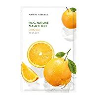 Nature Republic Real Nature Mask Sheet (10EA)リアルネイチャー マスクシート 10個 (Orange_オレンジ) [並行輸入品]
