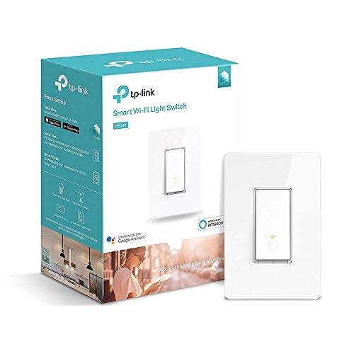 TP-Link Smart Wi-Fi Light Switch, Works with Amazon Alexa, No Hub Required, Single Pole, Control Your Fixtures From Anywhere (HS200) by TP-Link