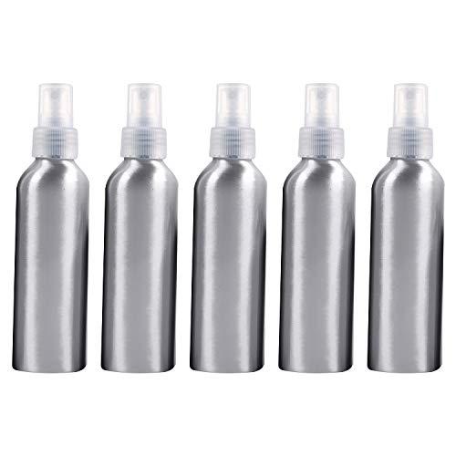 Beauté et soins personnels 5 bouteilles en verre réutilisables de pulvérisateur de brume fine de PCS bouteille en aluminium, 150ml Bouteille de cosmétiques (Couleur : Transparent)